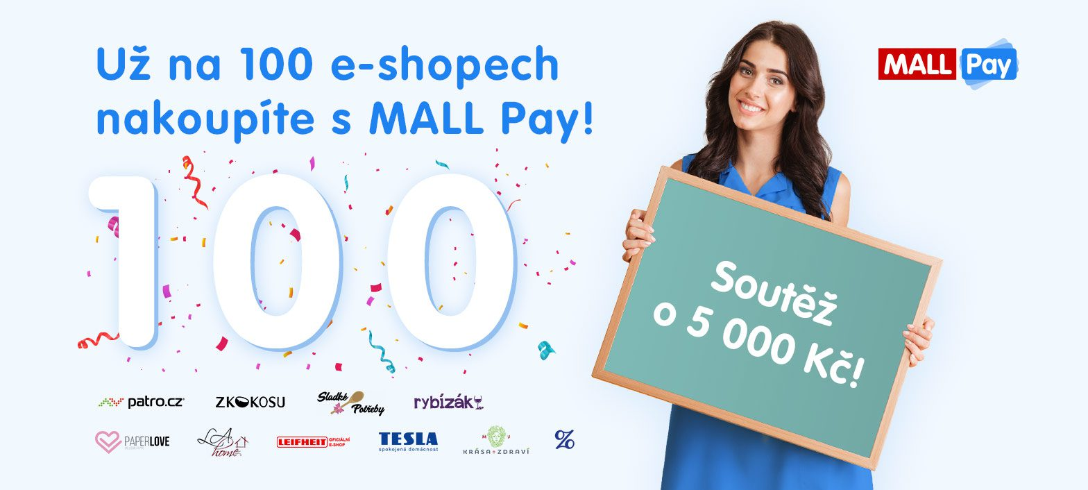 100 e-shopů MALL Pay